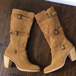 Via Spiga Camel Suede Boots